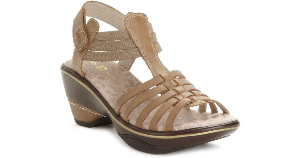 315b0f97467 Lyst - Jambu Cinnamon Wedge Sandals in Brown