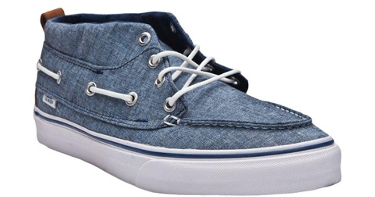 0fafc2e5fe Vans Chukka Del Barco Shoe in Blue for Men - Lyst