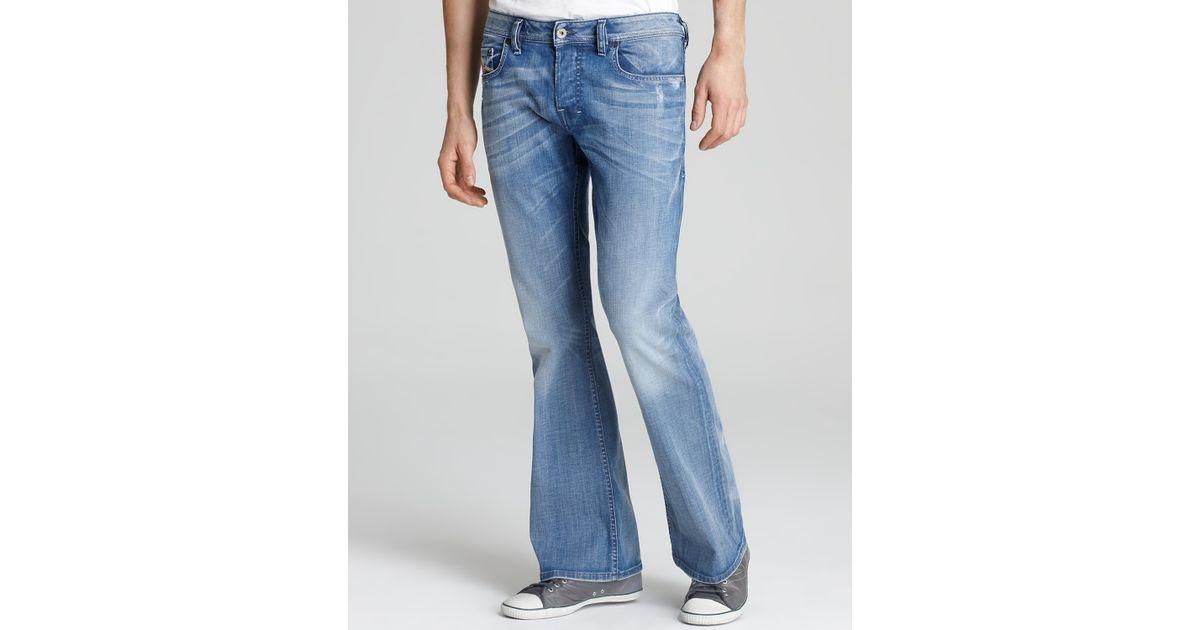 Ash Regular Fit Bootcut Jeans in Light Blue Wash in Blue for Men ...