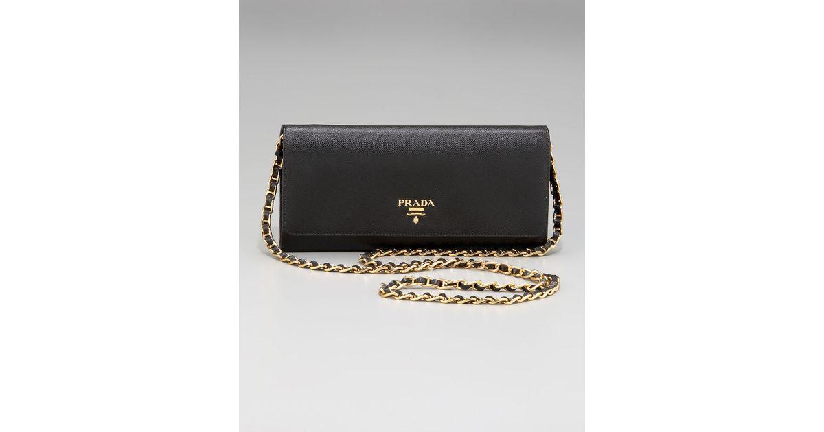 c3fa3715fde9 shopping prada saffiano chain crossbody wallet 8467f 41323