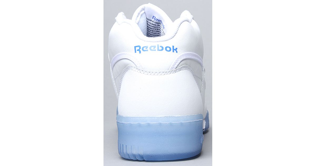 8c51abda273140 Lyst - Reebok The Workout Mid Ice Sneaker in White Blue in White for Men