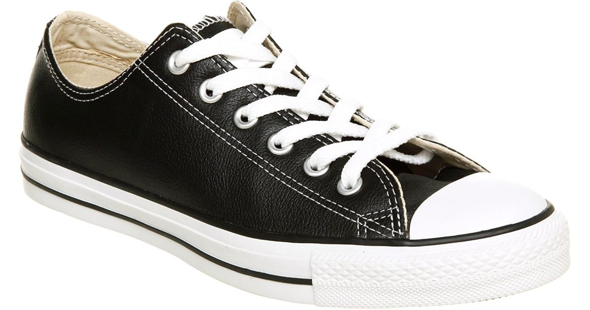 60bcc7476 ... ireland lyst converse all star leather ox low black leather in black  for men b9c5e 4c7e7