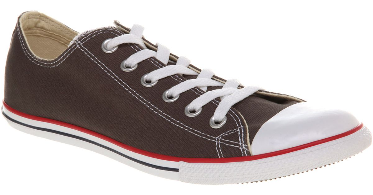 a8ab0d71a78 Lyst - Converse Chuck Taylor Slim Charcoal in Gray for Men