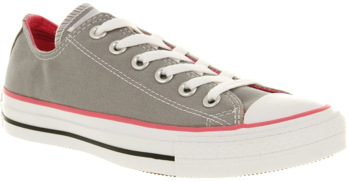 db8f1731e8f6 Converse All Star Low in Gray for Men - Lyst