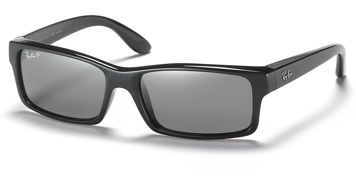 Lyst - Ray-Ban Plastic Frame Polarized Sunglasses in Black for Men