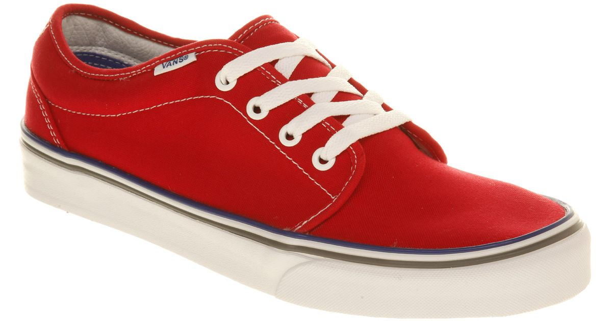 Vans 106 Red Red shoes online hot sale