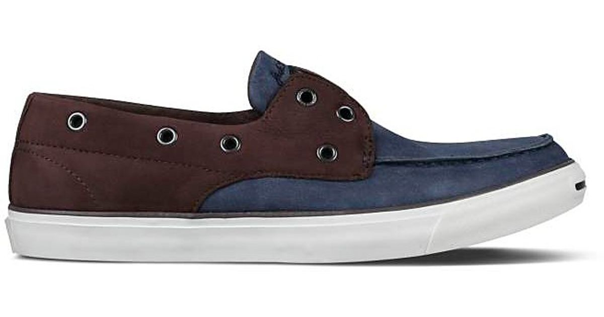 7786bb1c548f Lyst - Converse Jack Purcell Boat Shoe Loafers in Blue for Men