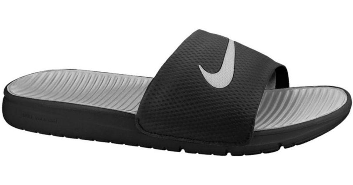 b37354a54fbc Lyst - Nike Benassi Solarsoft Slides in Black for Men