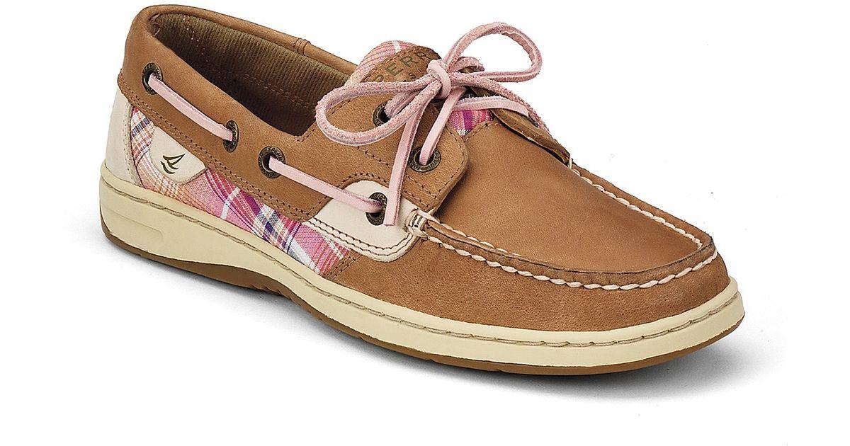 Womens Plaid Boat Shoes