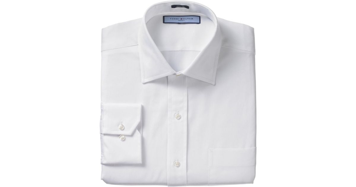 Lyst - Tommy Hilfiger Texture Oxford Slim Fit Long Sleeve Dress Shirt in  White for Men