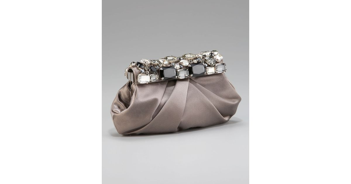 prada bag taupe gray