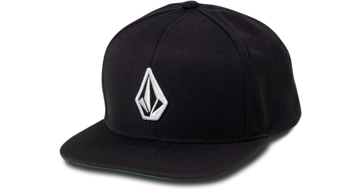 new arrival 7b0a6 65983 ... italy lyst volcom el stone snap back hat in black for men b722c aebc8