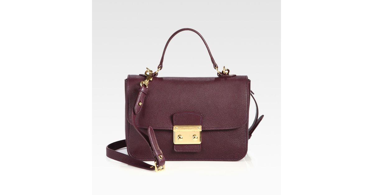 5f1771ef1c39 Lyst - Miu Miu Madras Crossbody Bag in Brown