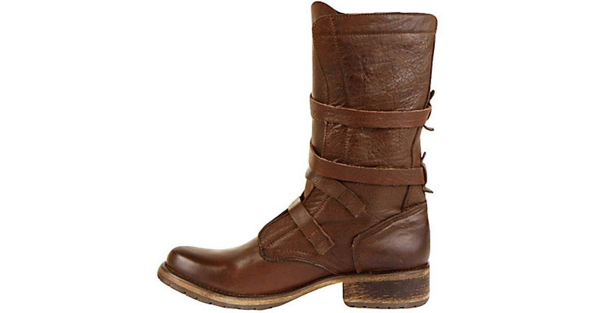 84ca91c109b Lyst - Steve Madden Banddit Leather Boots in Brown