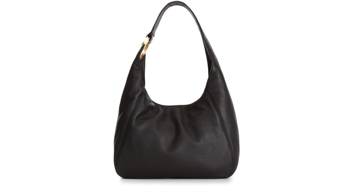8b9ef0edf Michael Kors Fulton Medium Shoulder Bag in Black - Lyst