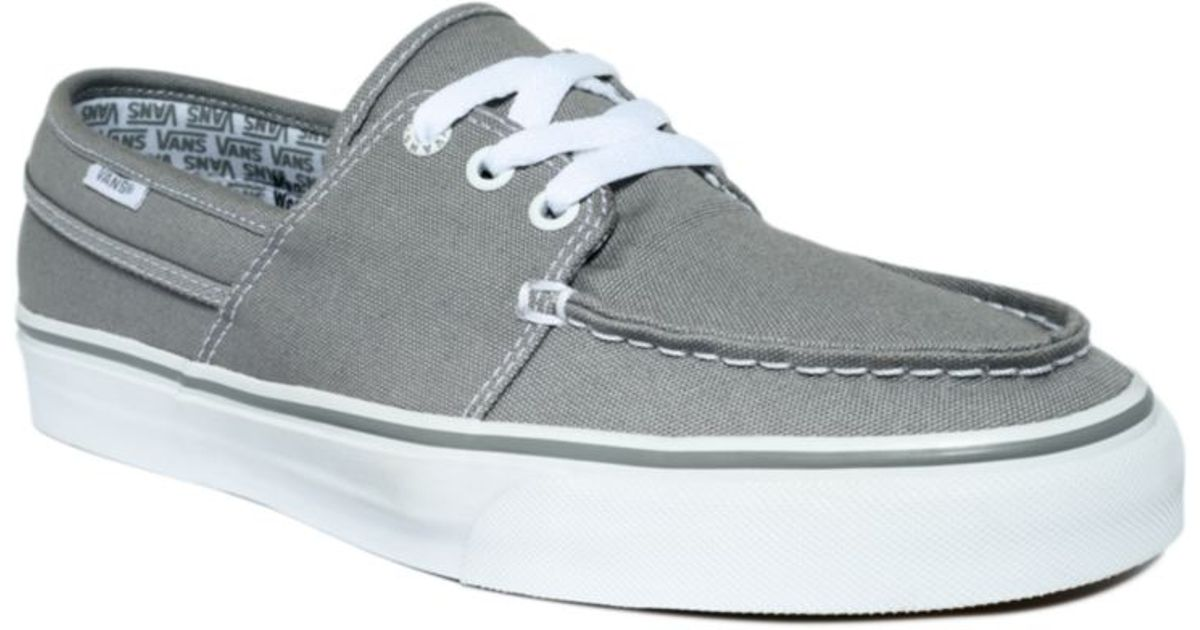 ... lyst vans hull canvas boat shoes in gray for men ... 6b2f231c6