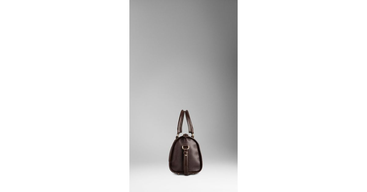 fd8624558909 Burberry Medium London Grainy Leather Bowling Bag in Brown - Lyst
