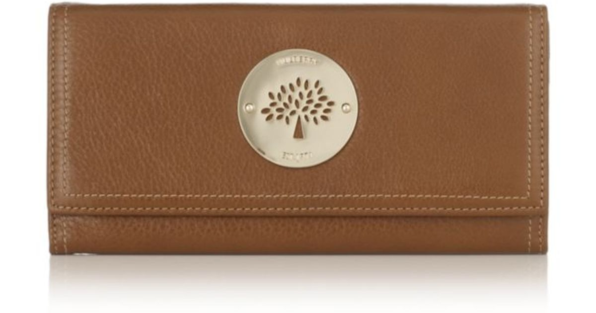 ... spongy pebbled leather sold bb36b 599b7  czech mulberry oak daria  continental wallet in brown lyst ae3f4 fc5f0 79b4af74d0677