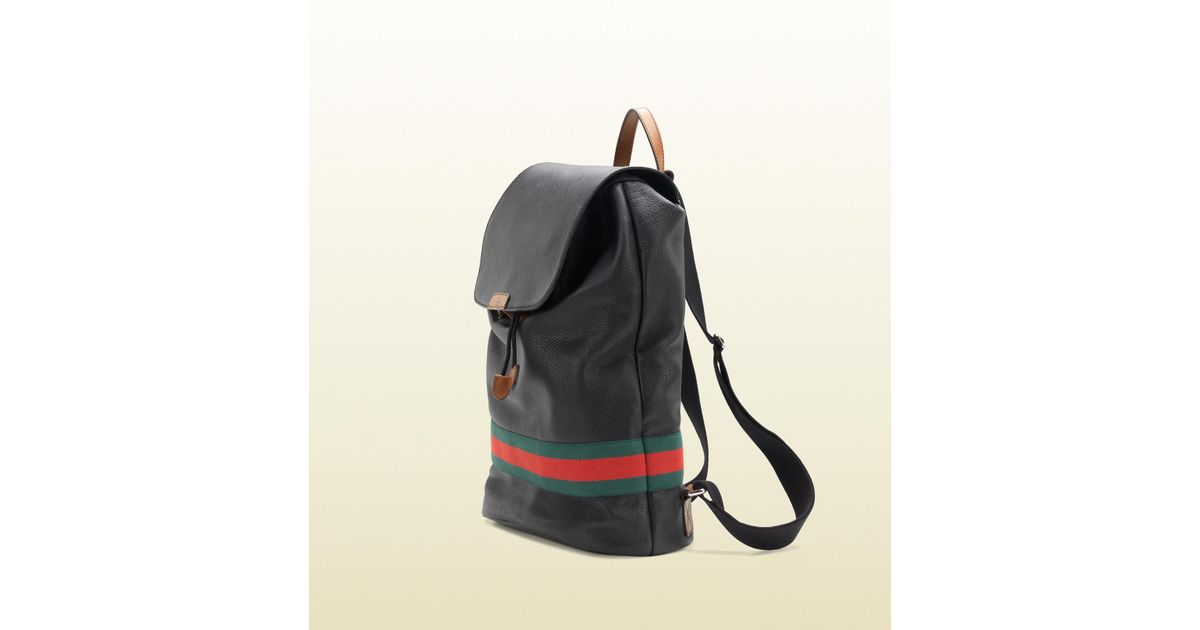 0df7afc1231 Lyst - Gucci Signature Web Backpack in Black for Men