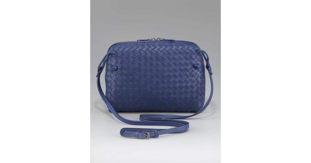 0ddc6762e01e Lyst - Bottega Veneta Crossbody Veneta Messenger Bag in Blue