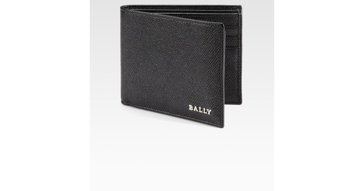 f3e0814e1037 Lyst - Bally Leather Billfold Wallet in Black for Men