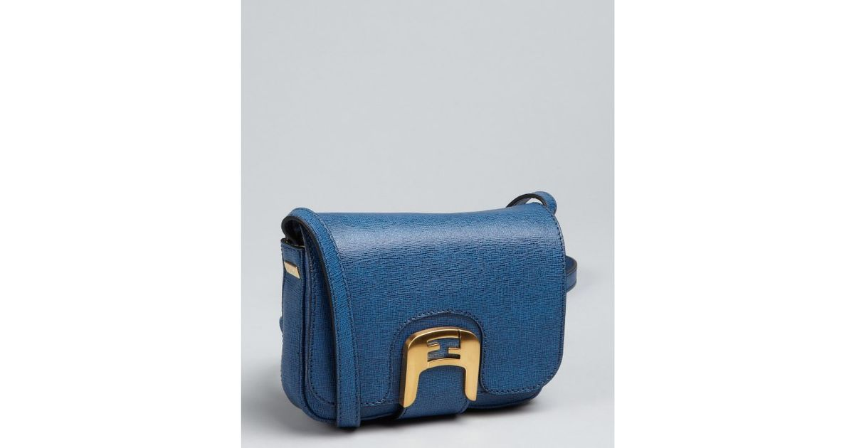 fe40e79c1944 ... Lyst - Fendi Blue Crosshatched Leather Chameleon Mini Crossbody Bag in  Blue innovative design d2207 dbb8b ...