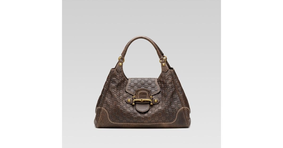 8b1a4a126449 Gucci New Pelham Large Shoulder Bag with Horsebit Detail in Brown - Lyst