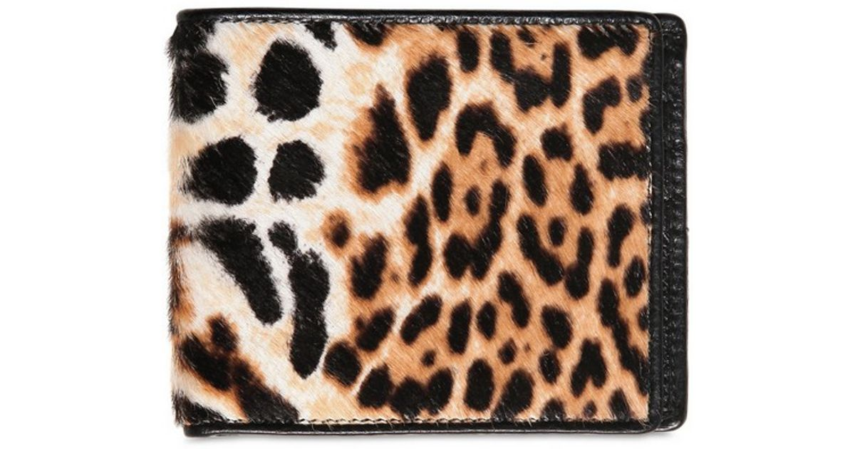 Saint laurent Leopard Printed Ponyskin Capsule Wallet in Animal ...