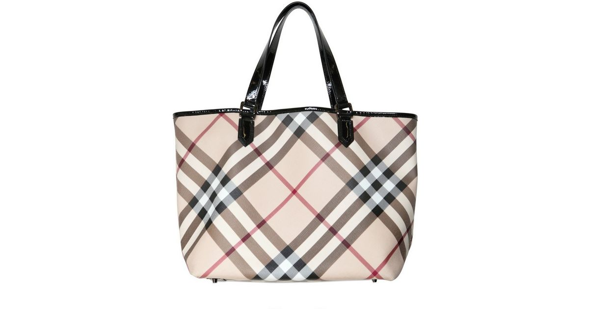 36b9d598f Burberry Large Nickie Nova Pvc Tote in Natural - Lyst
