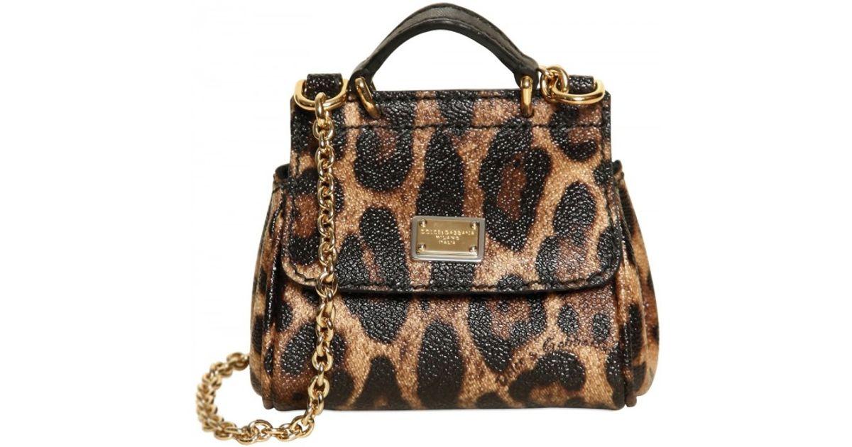 d8ec532488 Lyst - Dolce   Gabbana Mini Miss Sicily Leopard Print Pvc Bag