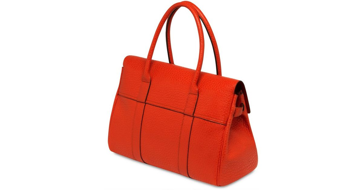 04c5658096 Lyst - Mulberry Bayswater Shiny Grained Leather Bag in Red