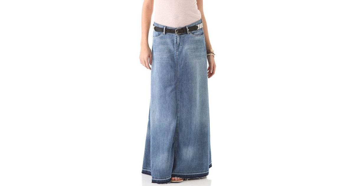 84e71ef554 Lyst - Citizens of Humanity Anja Long Skirt in Blue