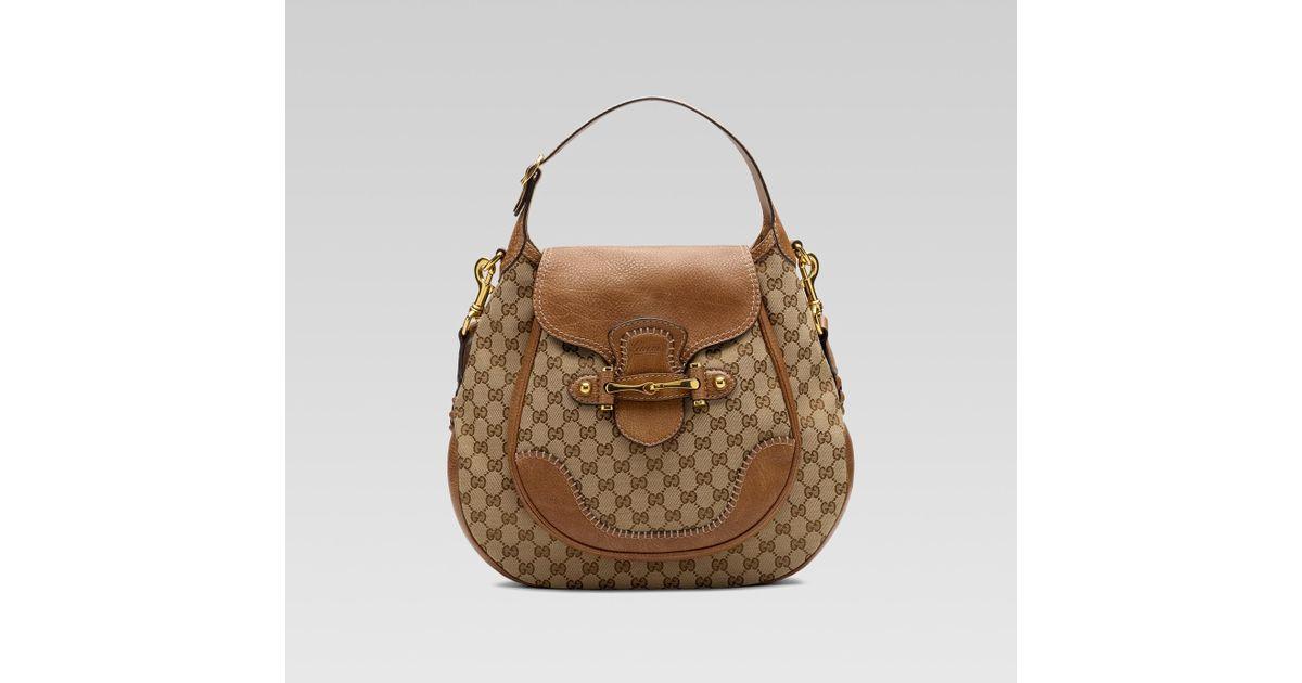 d6ec2a63eaf8 Gucci New Pelham Large Shoulder Bag with Horsebit Detail in Natural - Lyst