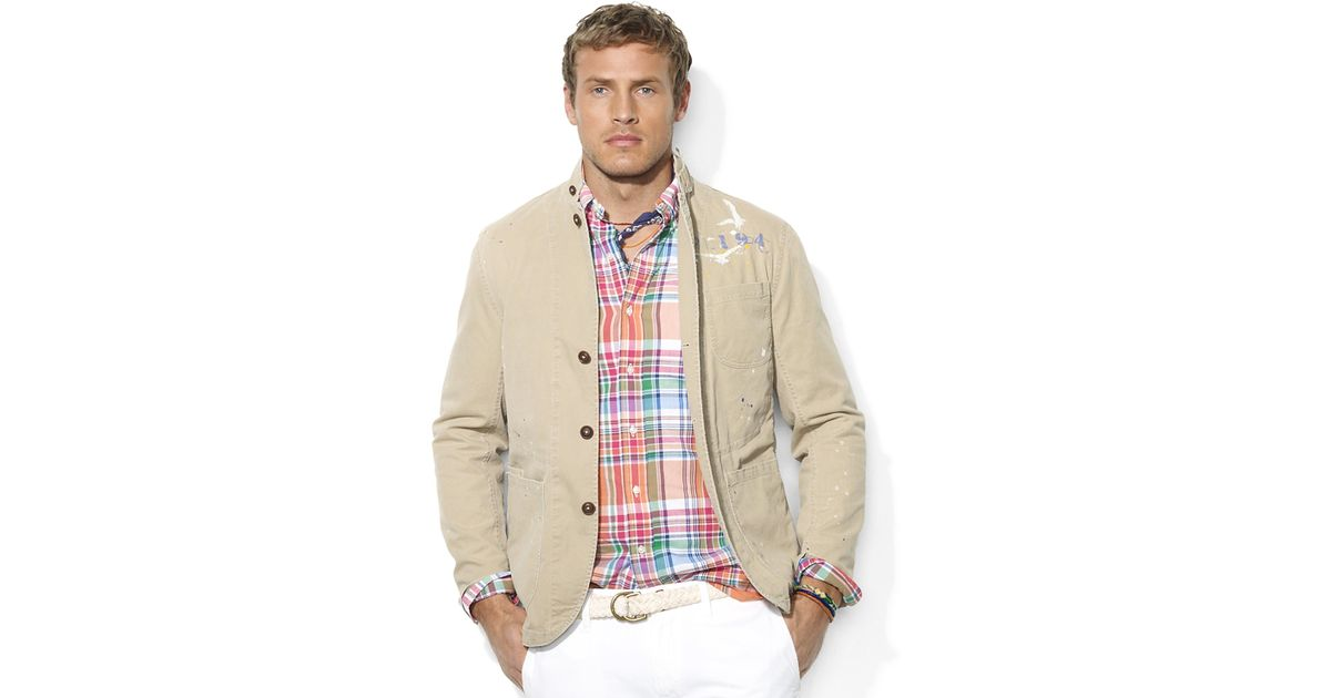 476146b7 Polo Ralph Lauren Artisan Cotton Twill Sport Coat in Natural for Men - Lyst