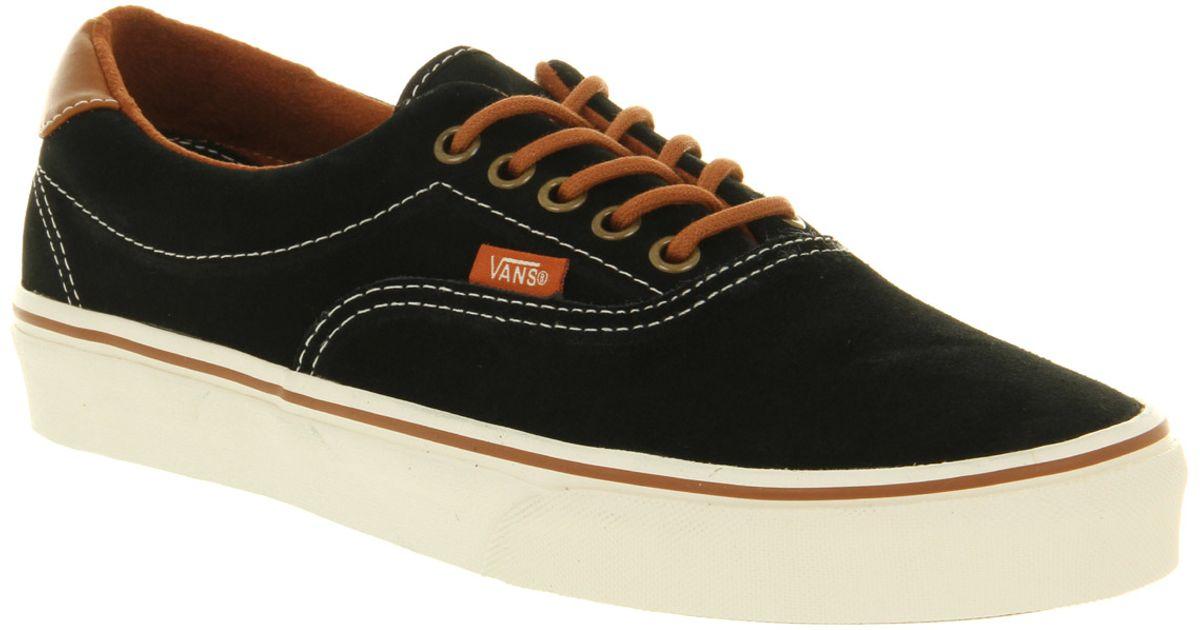 Lyst - Vans Era 59 Suede Black Leather Brown in Black for Men d9bd15ea3f02