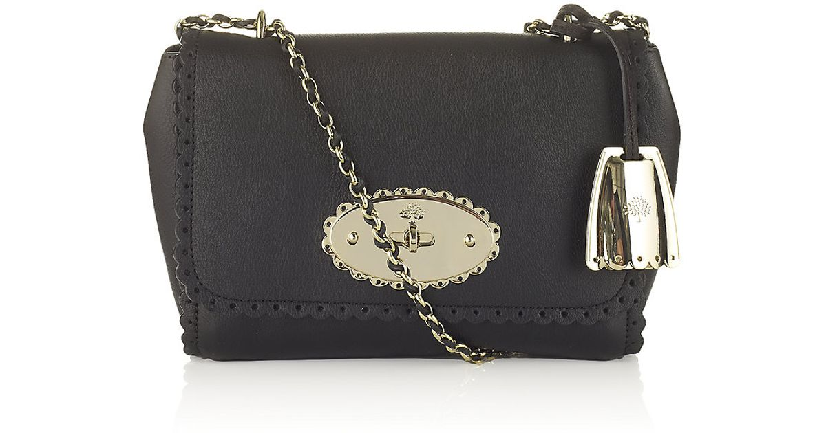 00a36a837a3e ... order mulberry cookie lily bag black in black lyst accc8 9b7f0