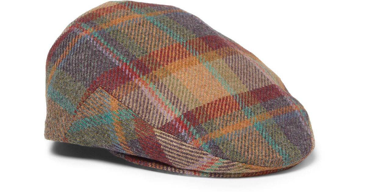 Lyst - Lock   Co. Plaid Wool and Cashmereblend Flat Cap in Red for Men 20149587720