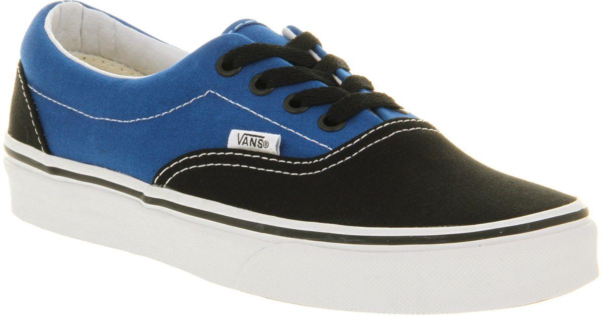 9ebc4186bab6 Lyst - Vans Era 2 Tone Black Snorkel Blue in Black for Men