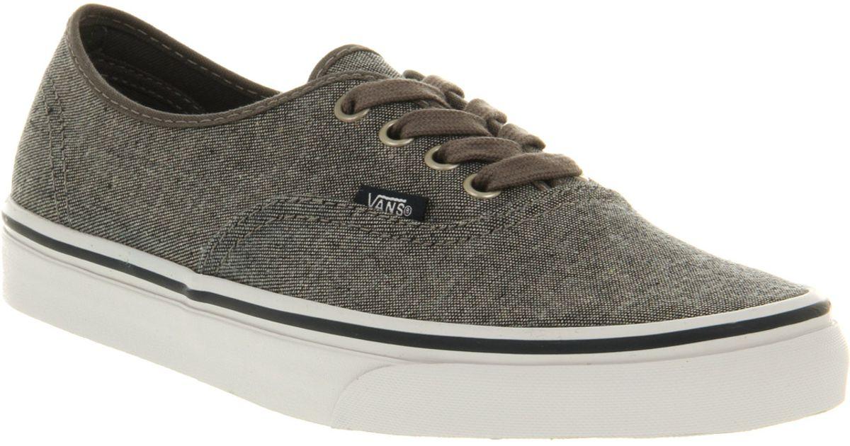 Lyst - Vans Authentic Denim Pewter True White in Gray for Men ef022fe00