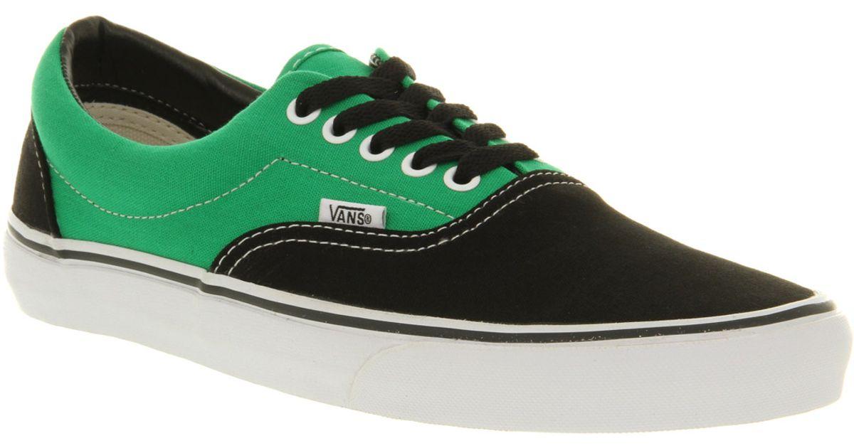 c63c3ef475f83d Lyst - Vans Era 2 Tone Black Bright Green in Black for Men