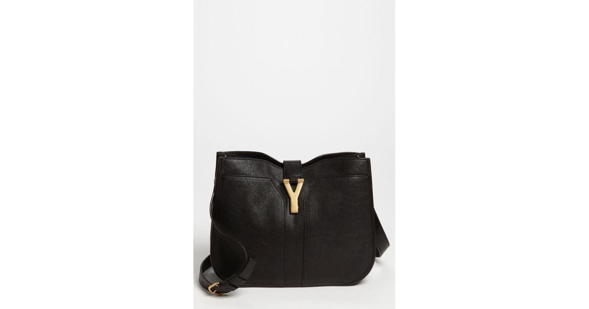 ysl cabas chyc brown - Saint laurent Cabas Chyc Medium Shoulder Bag in Black (nero)   Lyst