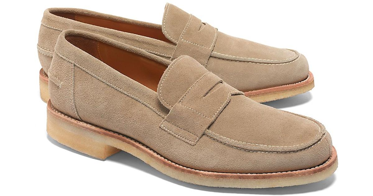 f2426a023c3 Lyst - Brooks Brothers Suede Loafer in Brown for Men