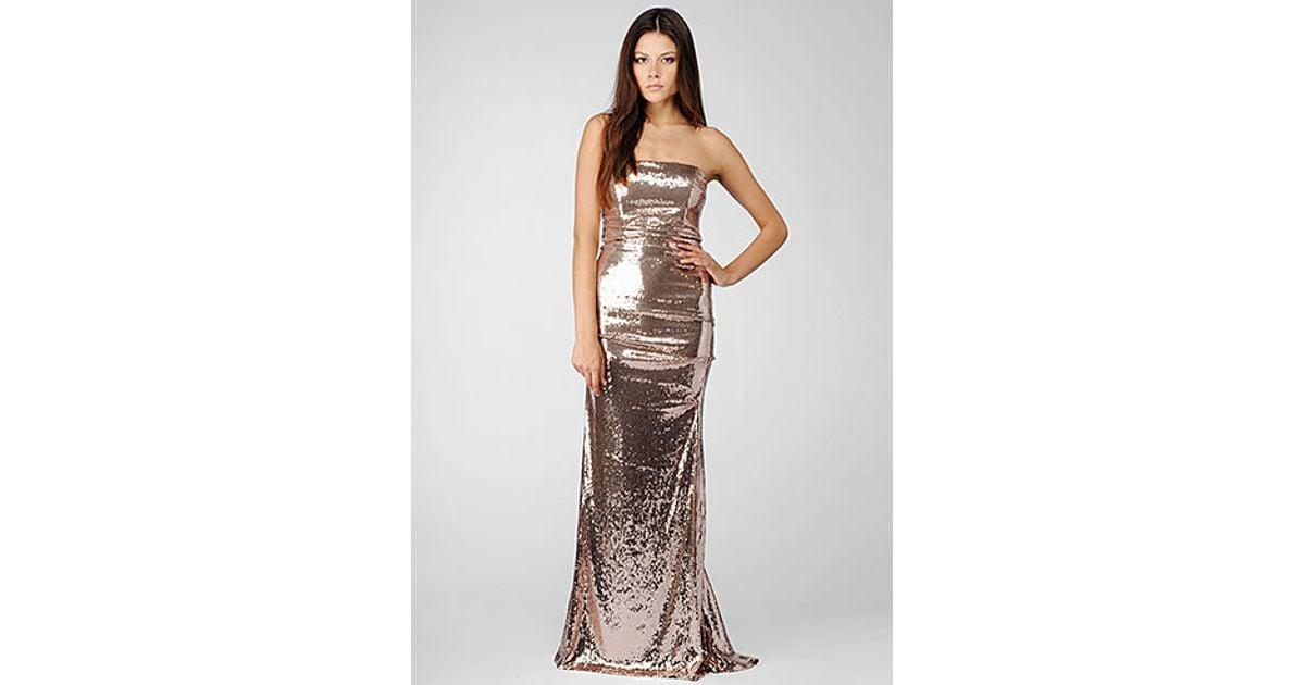 203546e172 Lyst nicole miller strapless all over sequin gown in metallic jpg 1200x630 Nicole  miller sequin dress
