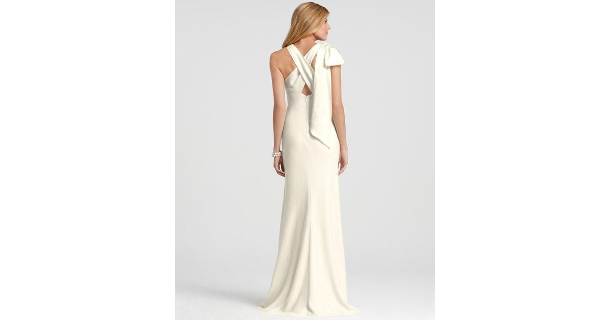 Ann Taylor Wedding Gowns: Ann Taylor Vanessa Bow Back Wedding Dress In White