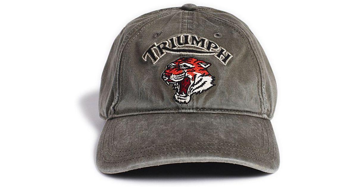 392c410e3a2 Lyst - Lucky Brand Triumph Tiger Baseball Cap in Gray for Men