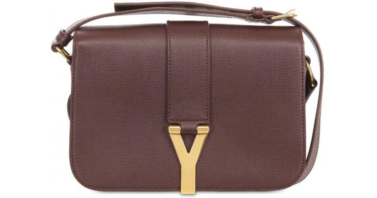Saint laurent Medium Chyc Mini Tweed and Leather Bag in Purple ...