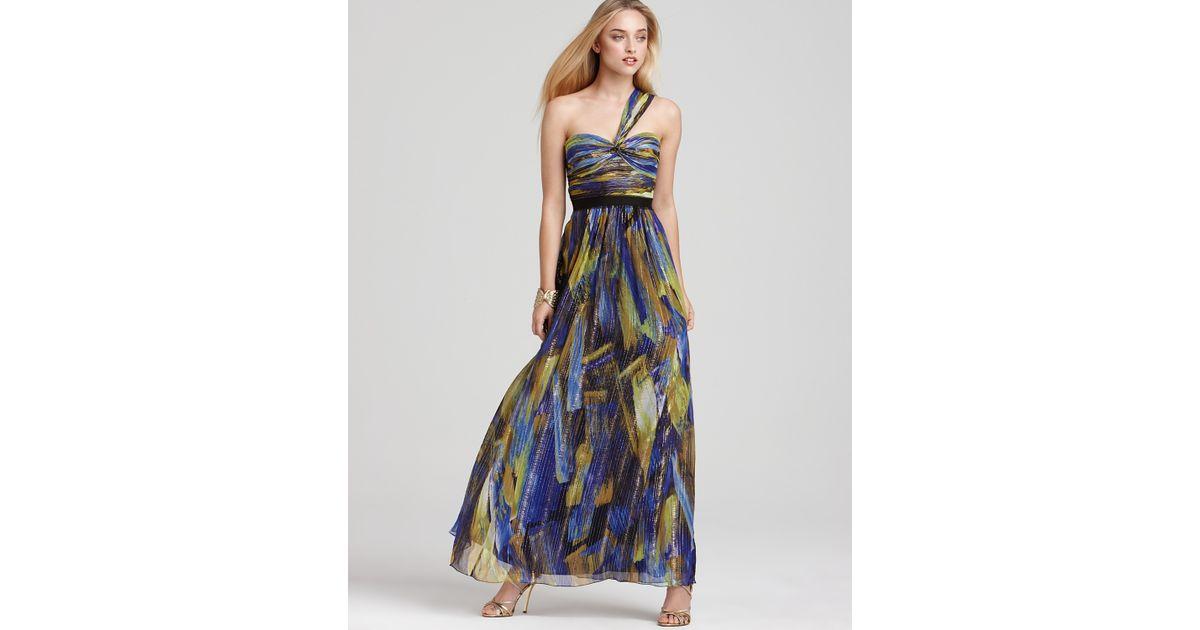 36f3a75e0dcd BCBGMAXAZRIA One Shoulder Dress Long Printed - Lyst
