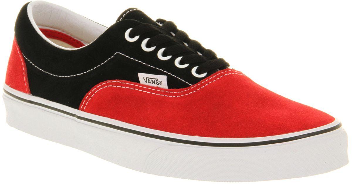 vans black and red