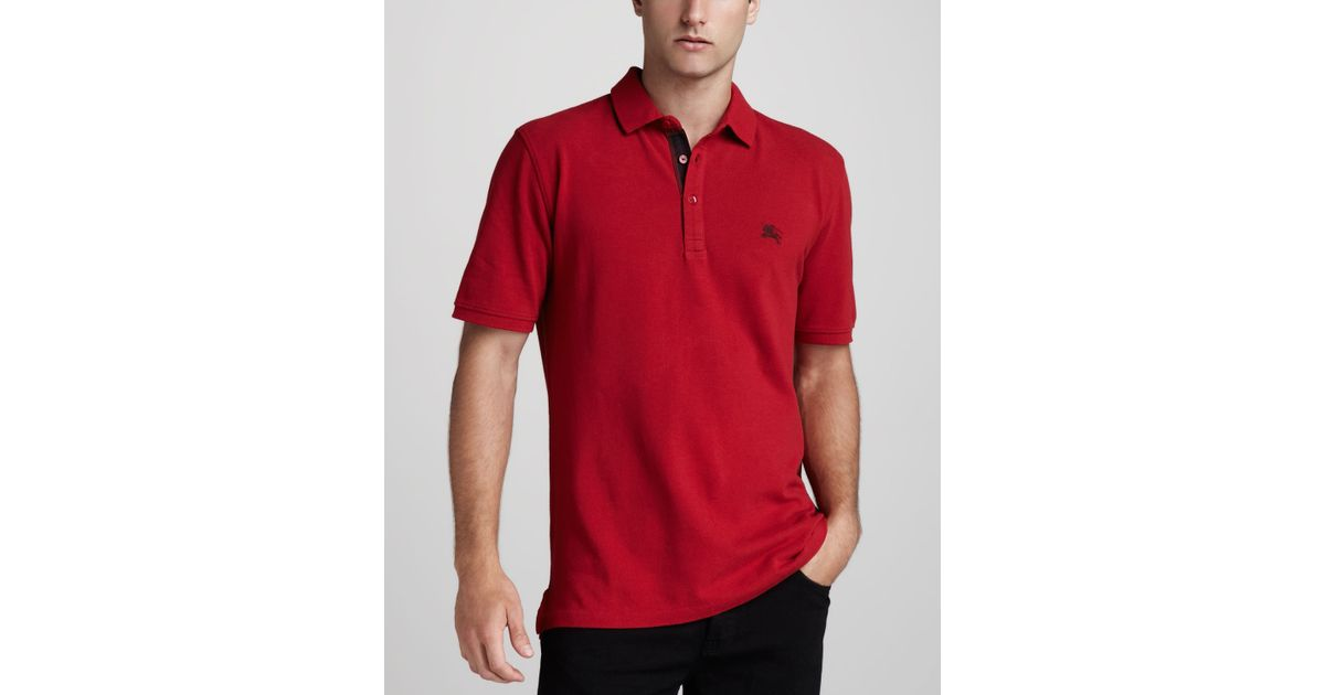 ccf7c61f067 Lyst - Burberry Brit Equestrian Knight Polo Military Red in Red for Men