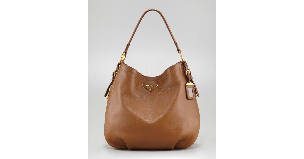 3327c8eedb1a prada mini flower bag - prada-dark-camel-cervo-hobo-product